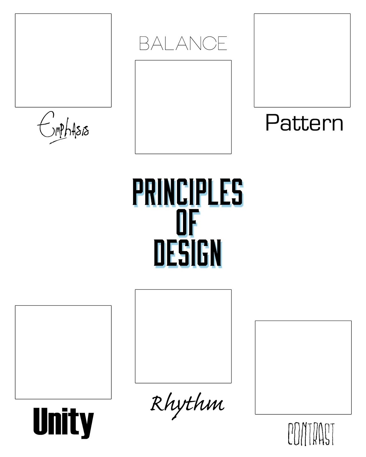 Graphic organizers I created for my Graphics 1 students: Using the ...