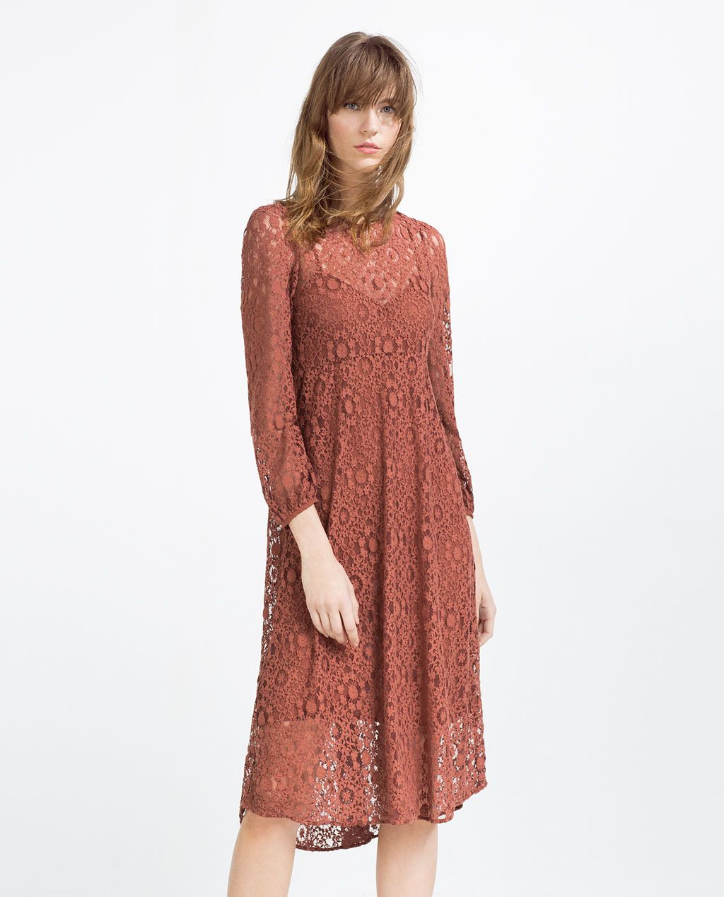 Lace dress view all dresses woman zara united states style vestido blanco guipur zara dress up ispan ombrellifo Choice Image