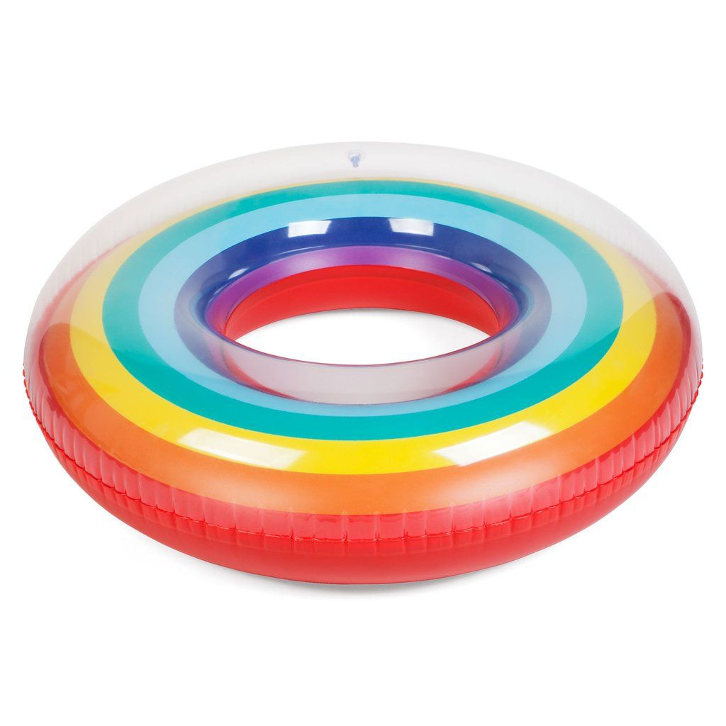 Pin By Meredith Chinkel On Sunny Life Rainbow Pools Inflatable Pool Floats Pool Float