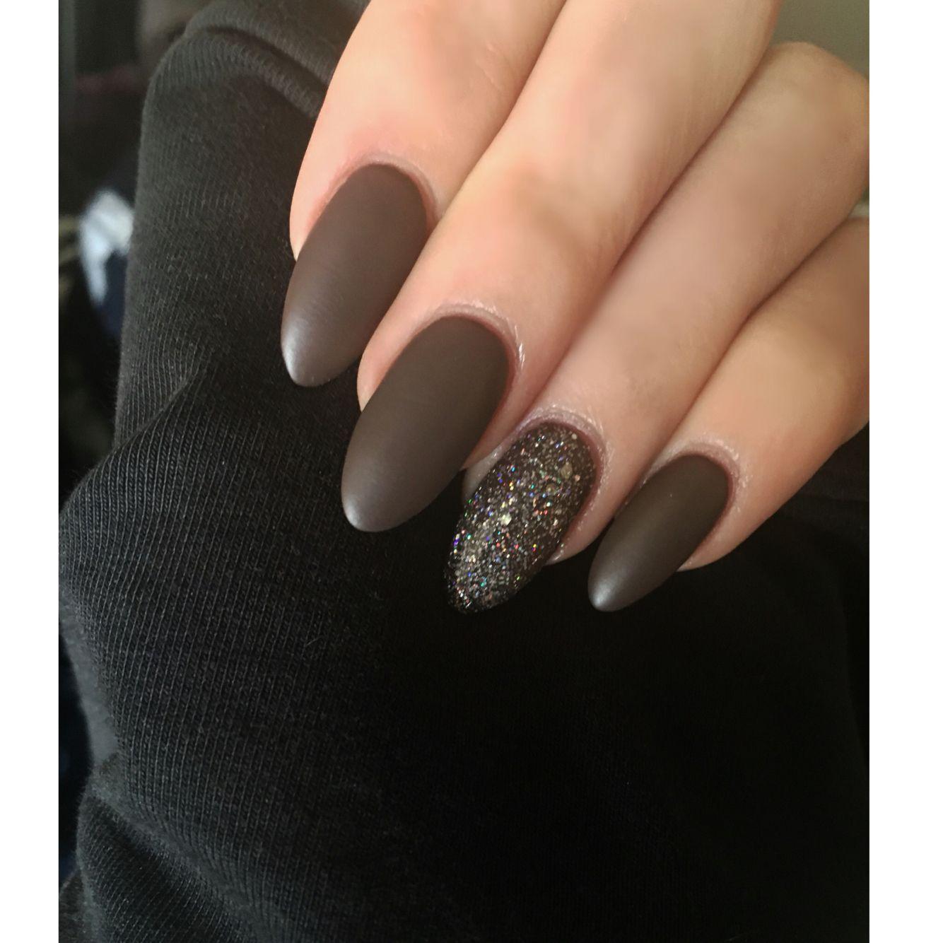 Love my matte, almond nails | Good nails, good attitude | Pinterest ...