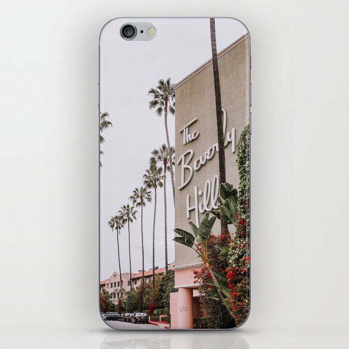 Beverly Hills Hotel Iphone Skin by Standard Prints - iPhone X