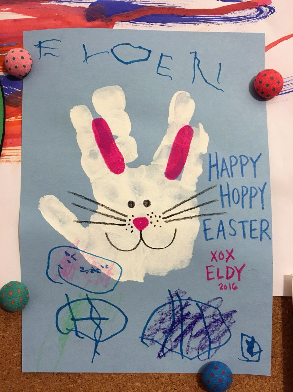 Easter Bunny Handprint Craft For Toddlers And Kids