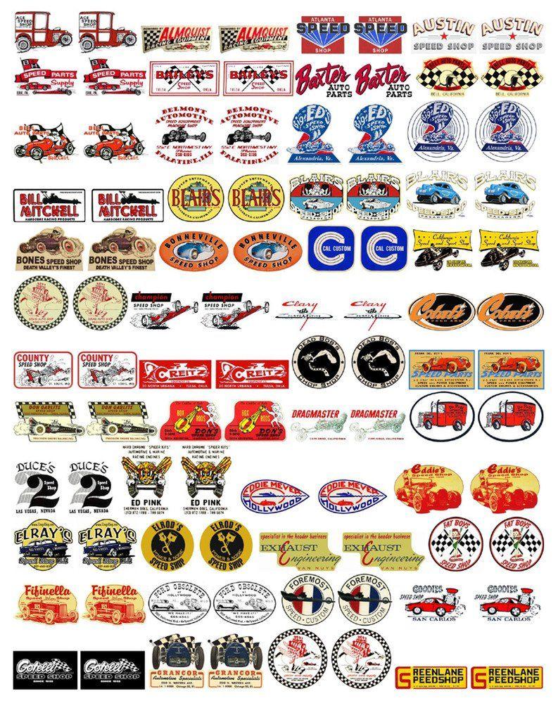 Gasser Models Speed Shops Vol 1 Decals A G Model Trains Sticker Art Logo Sticker