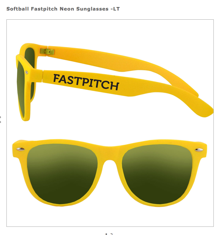 Matching Fastpitch Softball sunglasses for the whole team