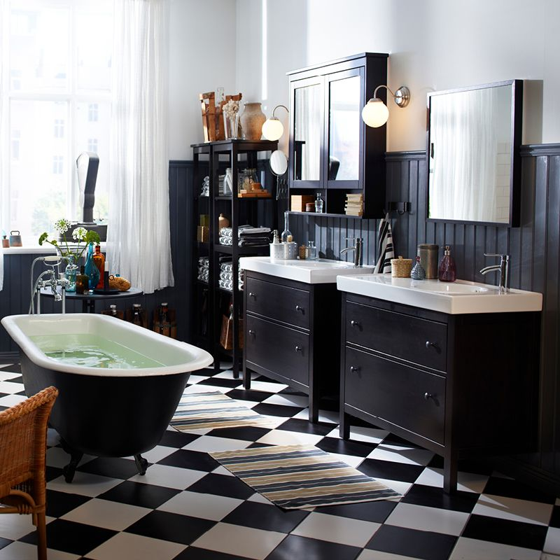 Masculine Master Baths: HEMNES Gives A Traditional Approach To A Tidy Bathroom