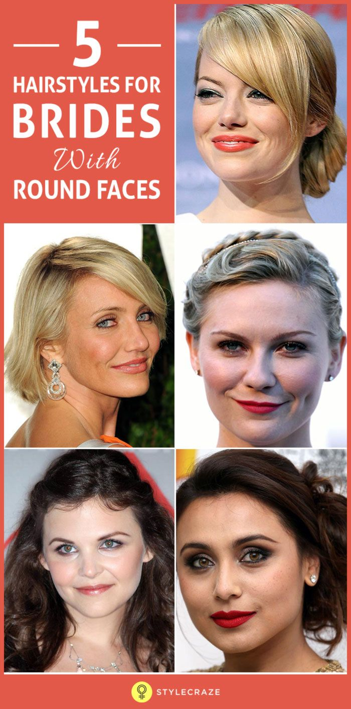 20 Best Hairstyles For Brides With Round Faces pictures
