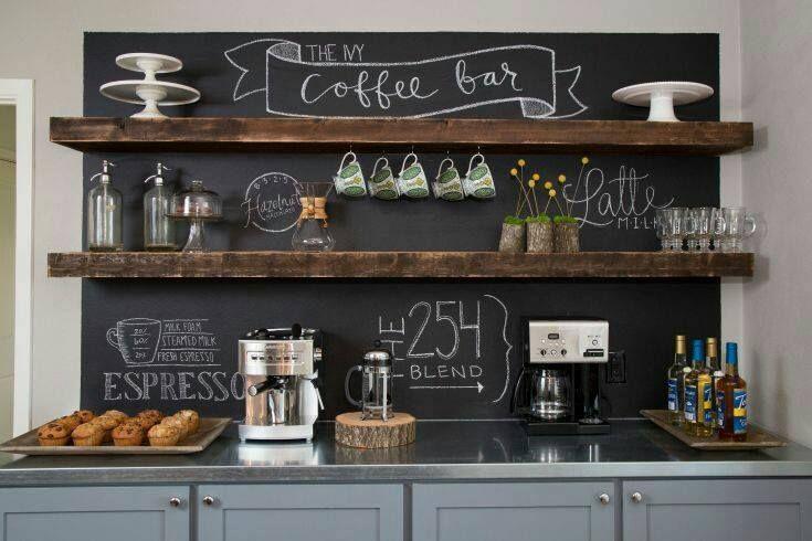 Keuken Bar Muur : Como hacer un coffee bar en casa home is where you make it