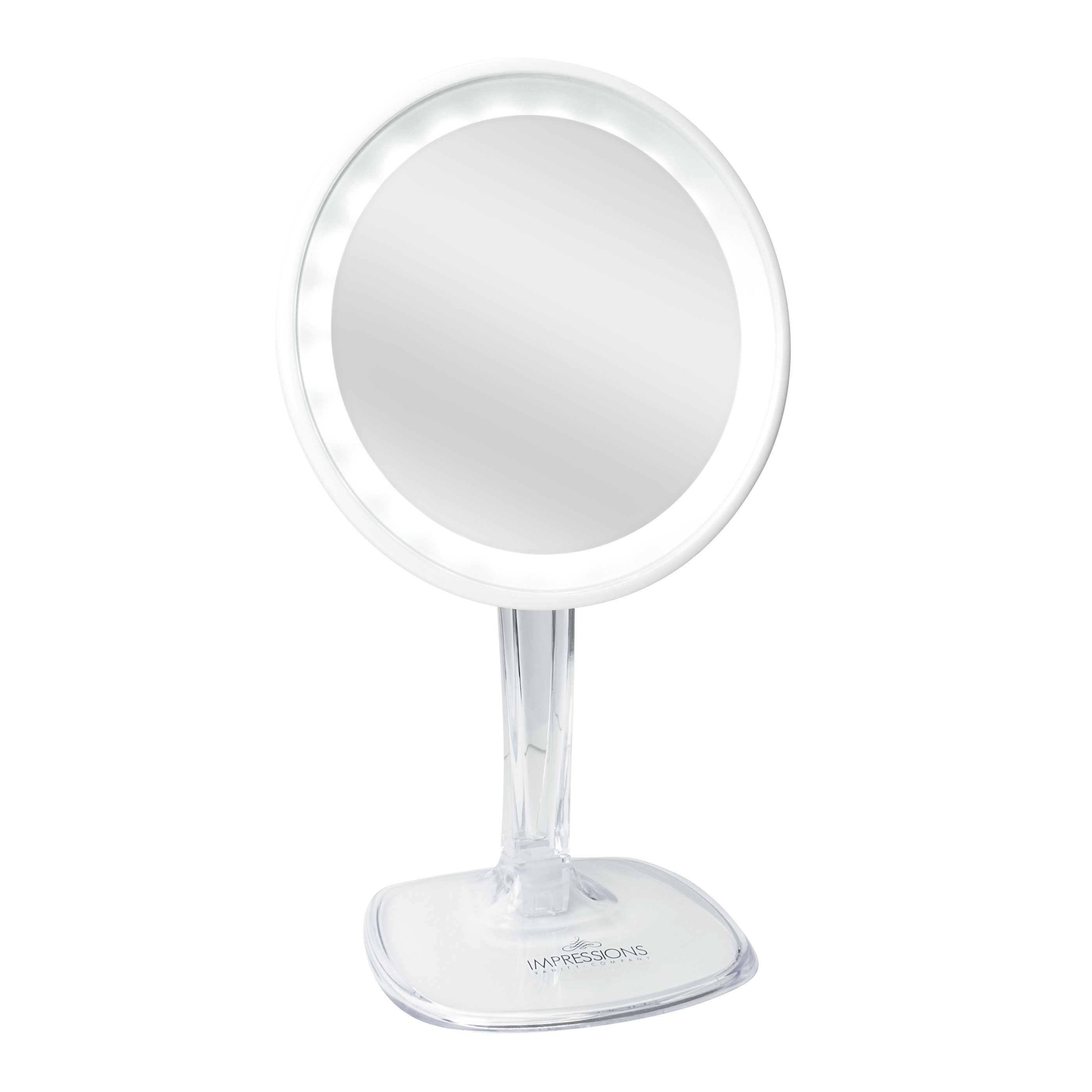Halo Rechargeable LED 10x Makeup Mirror in White Mirror