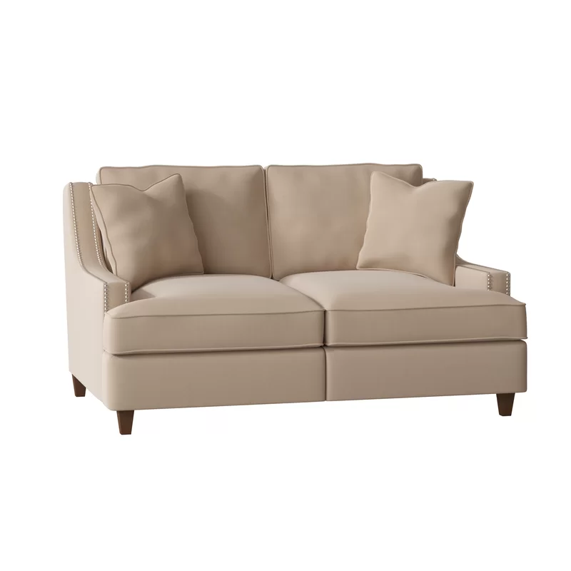 Tricia Power Hybrid Reclining Loveseat Genuine leather