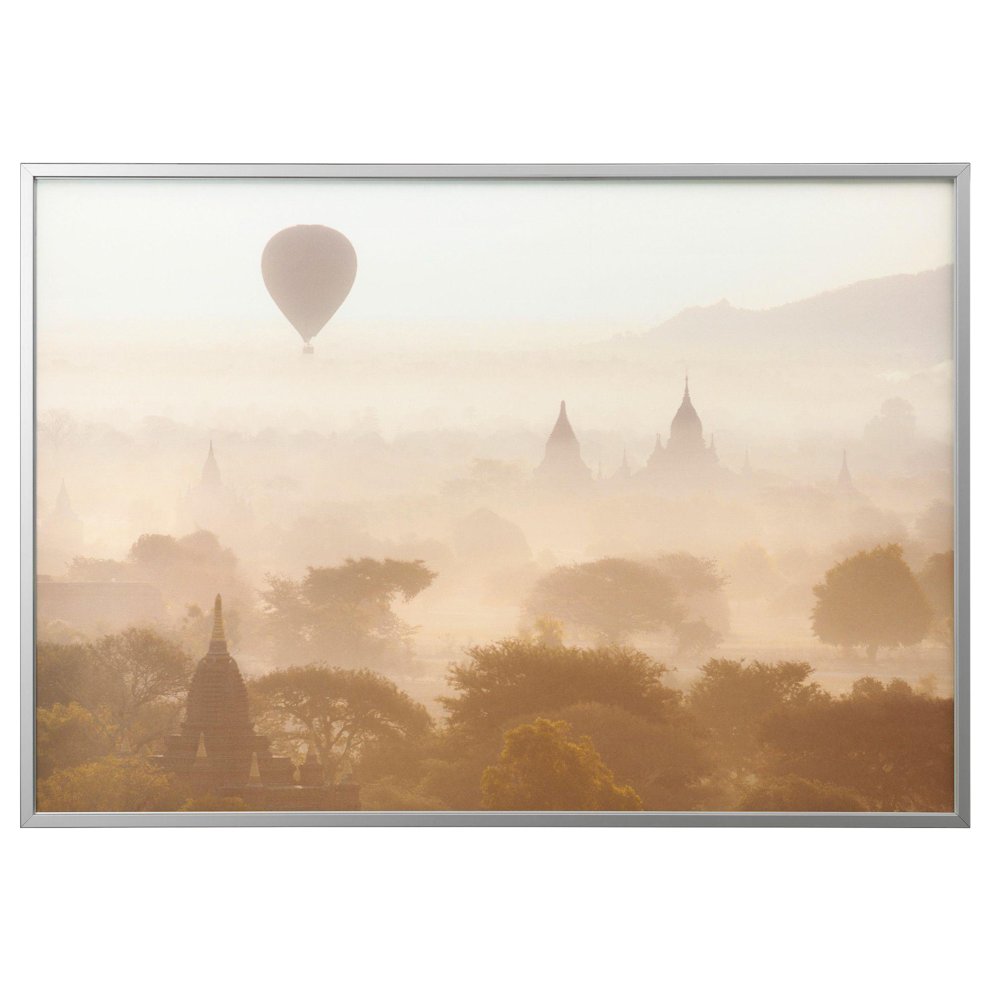 BJÖRKSTA, Gerahmtes Bild, Tempel in Bagan, aluminiumfarben Jetzt ...