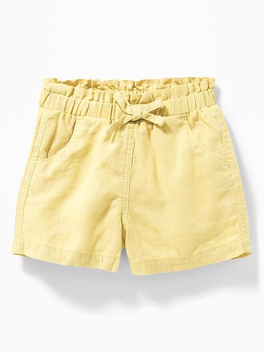Ralph Lauren Shorts Girls Infant Baby Navy Blue Shorts Soft Cotton NEW 12 18 MO