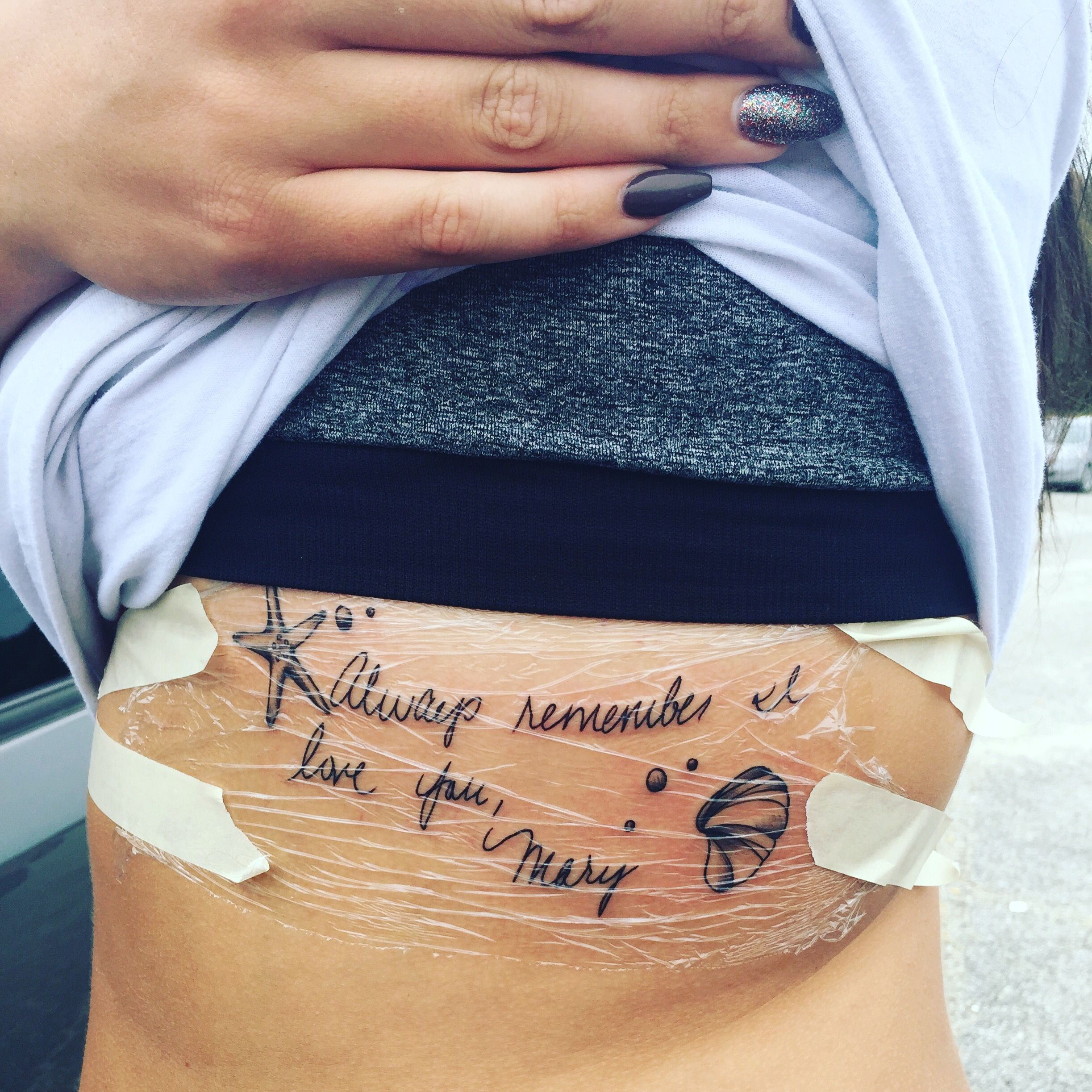 tattoos handwriting tattoo personal godmother away quotes discover