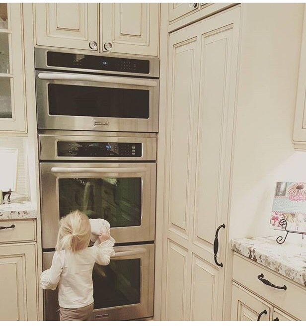 Double Wall Oven With Convection Microwave On Top Wall