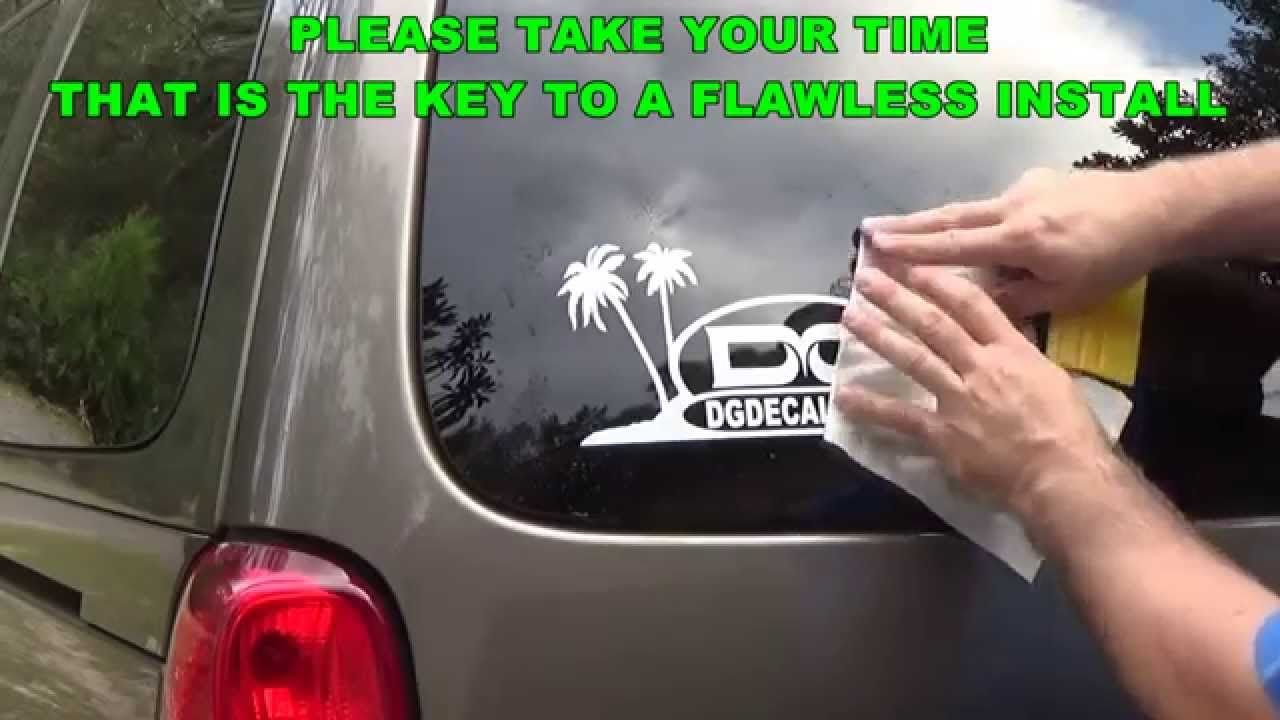 How to install a vinyl decal using wet install top hinge