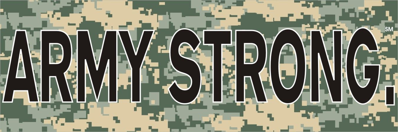 382b56d2cc8 Army Strong Digital Camo Bumper Sticker - Army Bumper Stickers at http   www