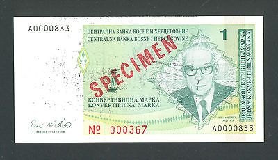 BOSNIA 1 Convertible Marka ND1998 UNC P60s SPECIMEN RARE BANKNOTE http://cgi.ebay.com/ws/eBayISAPI.dll?ViewItem&item=161138482200