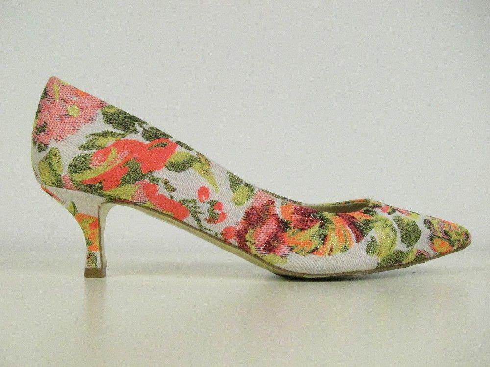 1ffef3a99ac STELLA McCARTNEY Floral Jacquard GWEN Kitten Heel Pumps ...