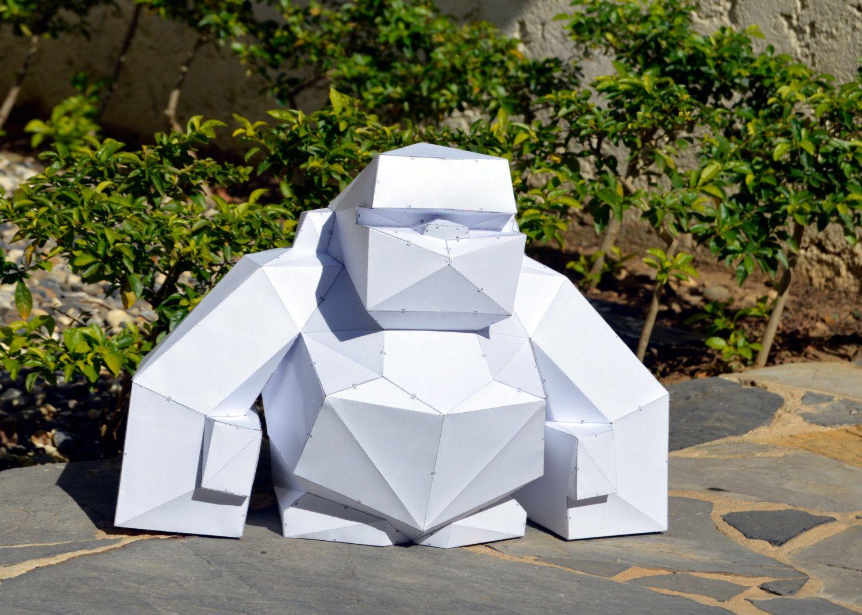 Make your own gorrila sculpture papercraft gorilla wild animal make your own gorrila sculpture papercraft gorilla wild animal king kong papercraft jeuxipadfo Image collections