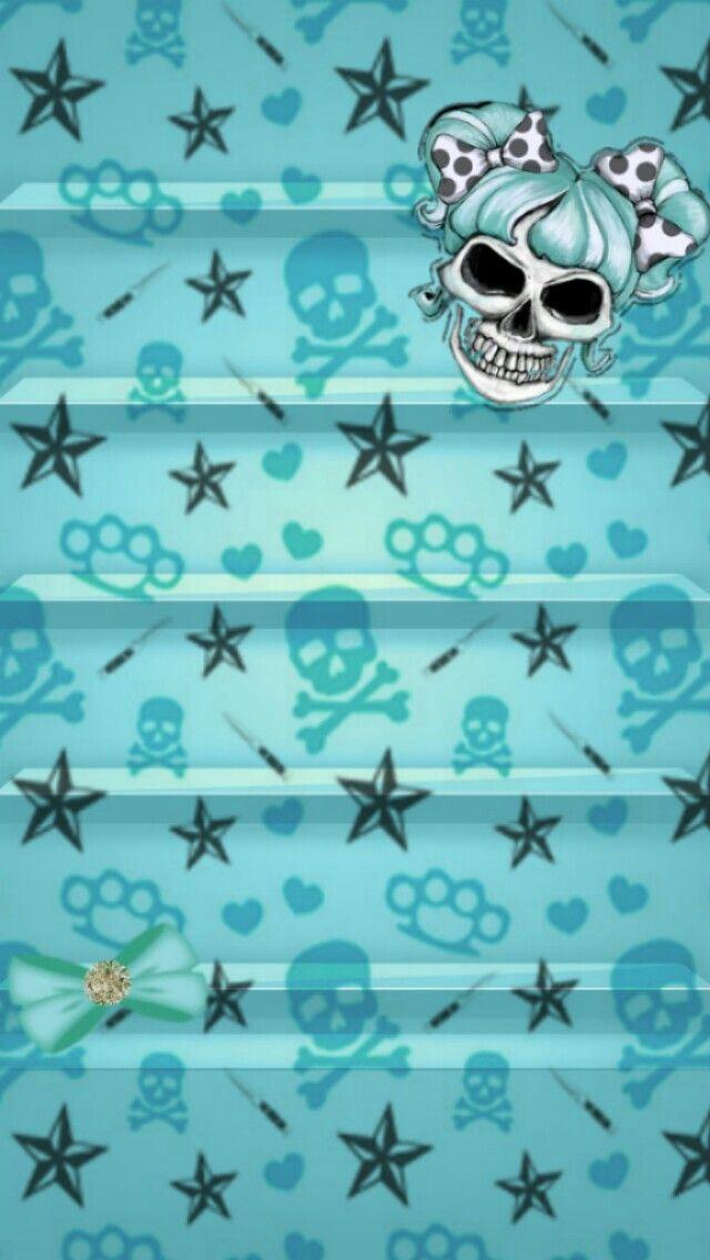Girly skull bow wallpaper lock screens pinterest girly girly skull bow voltagebd Choice Image