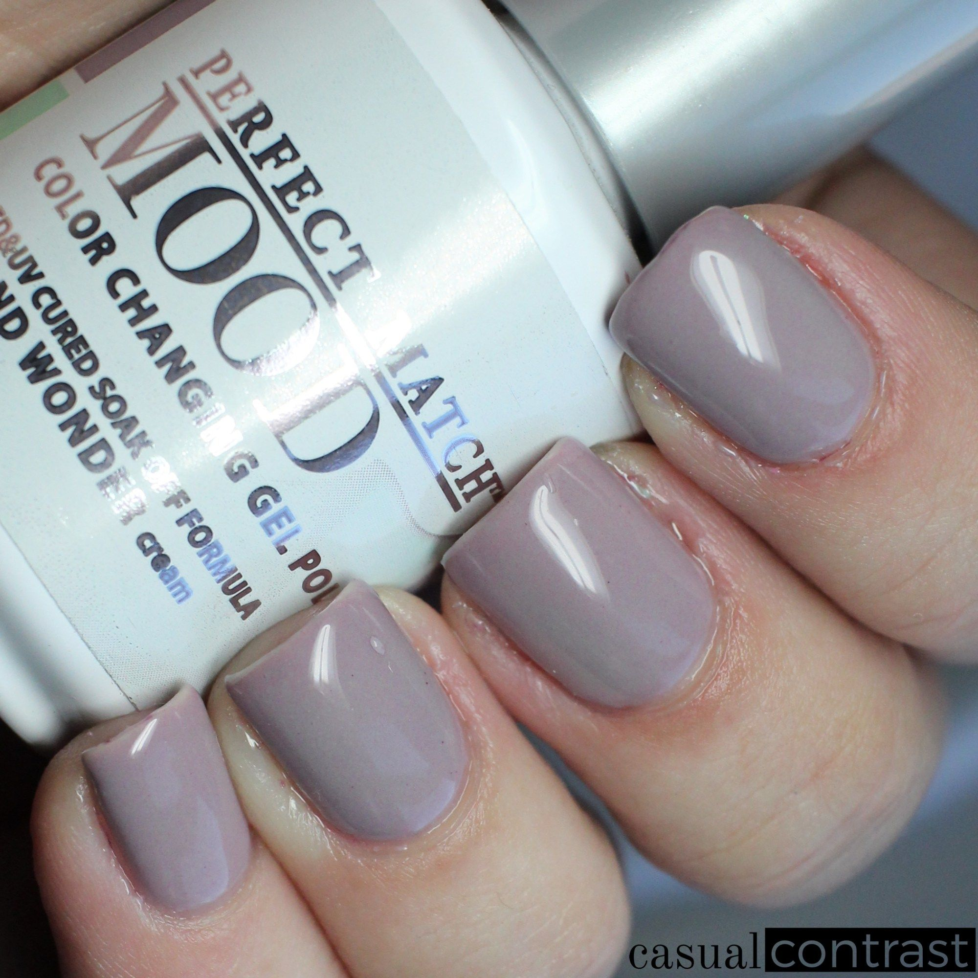 Lechat Island Wonder Cold State Perfect Match Mood Color Changing Gel Polish Swatches