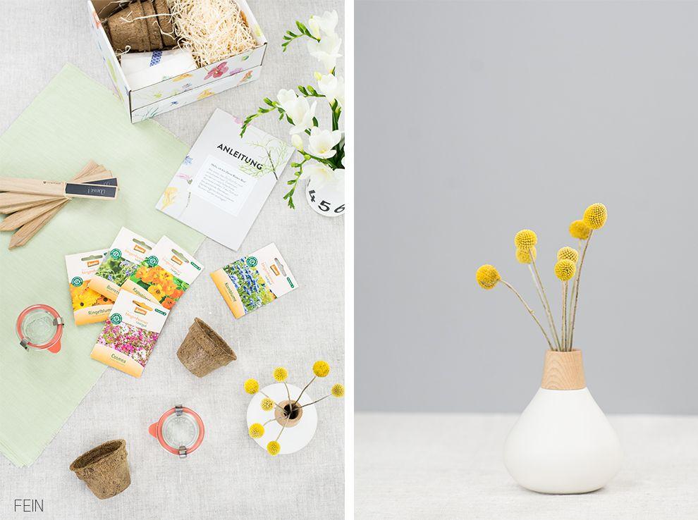 Essbare Blumen DIY Box