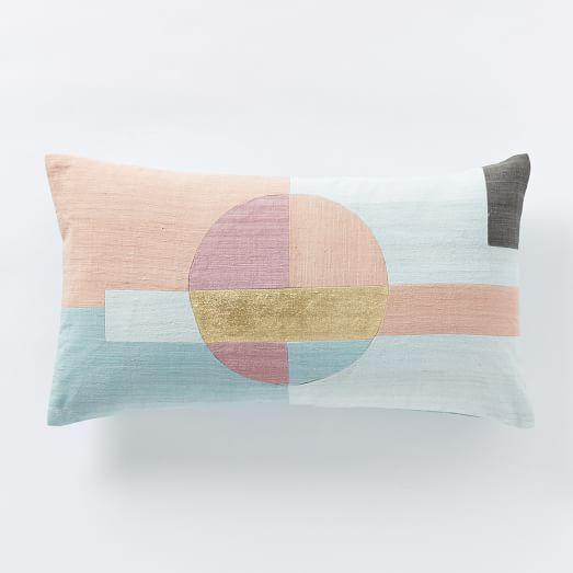 roar rabbit circle pillow cover west elm pastel throw. Black Bedroom Furniture Sets. Home Design Ideas