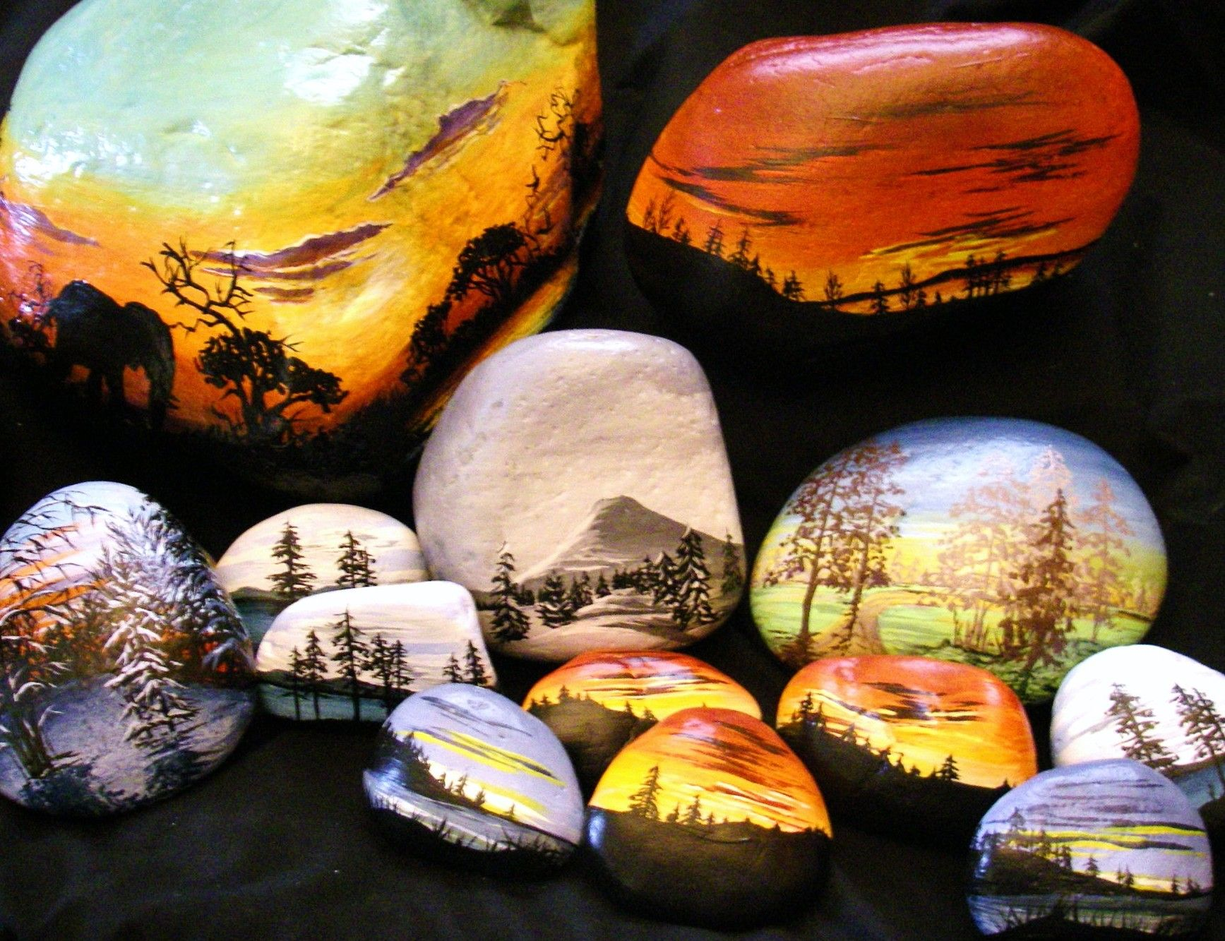 River rock painting ideas images of hand painted bc - River rock painting ideas ...