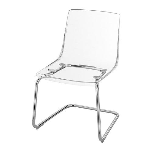 Tobias Transparent Chrome Plated Chair Ikea Clear Chairs Transparent Chair Acrylic Chair