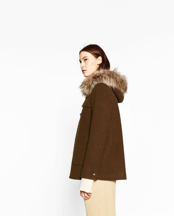 Image 3 of A-LINE DUFFLE COAT from Zara   cascade inspiration ...