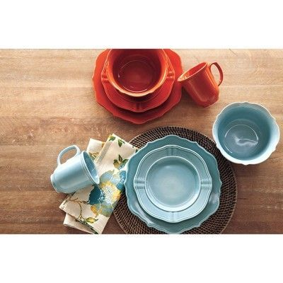 Wellsbridge 16pc Dinnerware Set Aqua - Threshold  sc 1 st  Pinterest & Wellsbridge 16pc Dinnerware Set Aqua - Threshold | Dinnerware Aqua ...