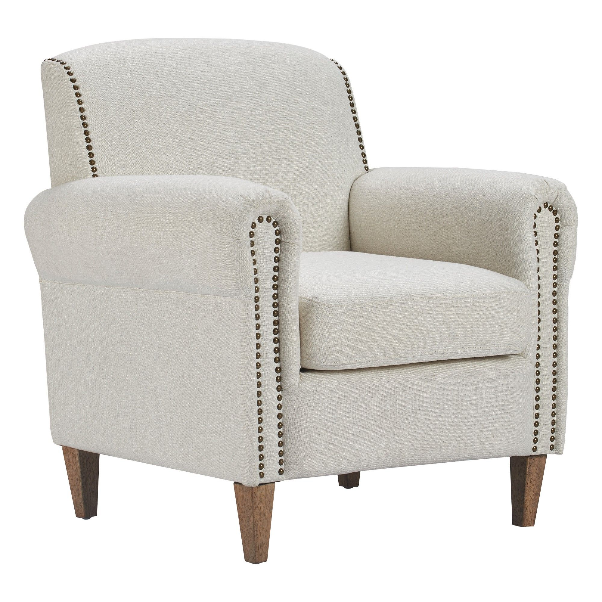 Elmhurst Accent Chair Ivory Linen Finch Accent Chairs