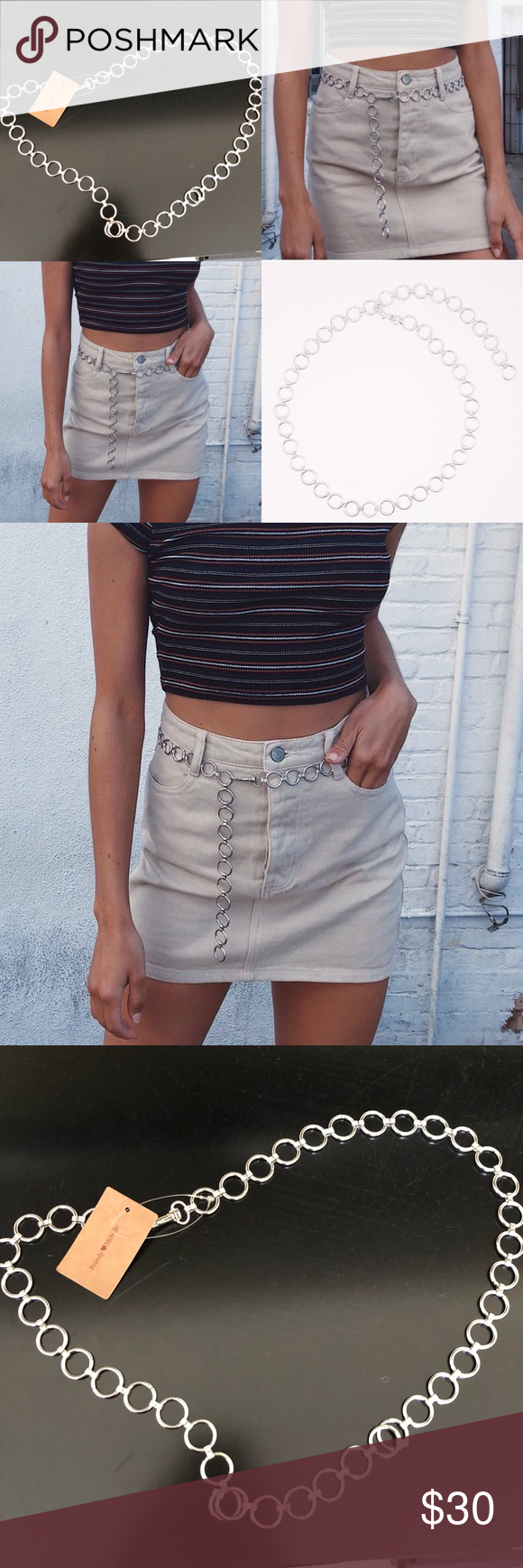 c11592f0b9 Brandy Melville Silver Chain Belt NWT NOT AVAILABLE ONLINE Brandy Melville  Accessories Belts
