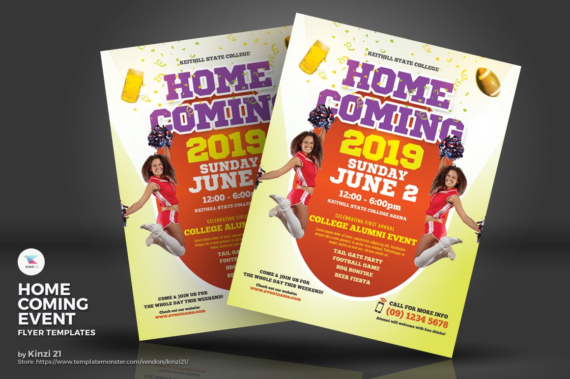 Homecoming Event Flyers Corporate Identity Template Event Flyer Templates Event Flyer Flyer Template