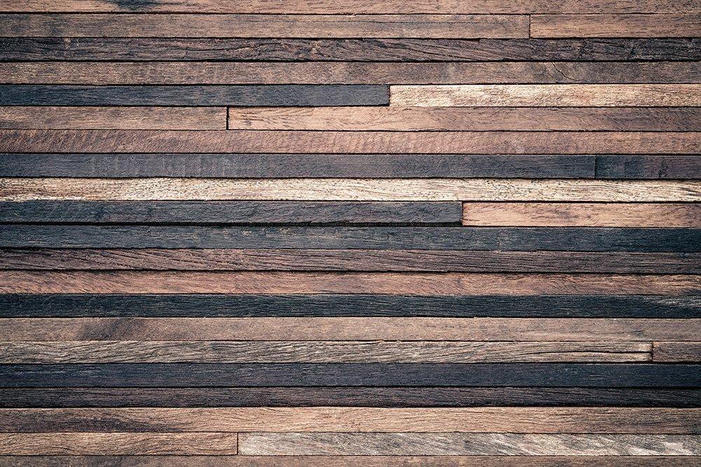 Kate 7x5ft Brown Wooden Wall Backdrops Retro Darker Wood Board Microfiber Photo Studio Props