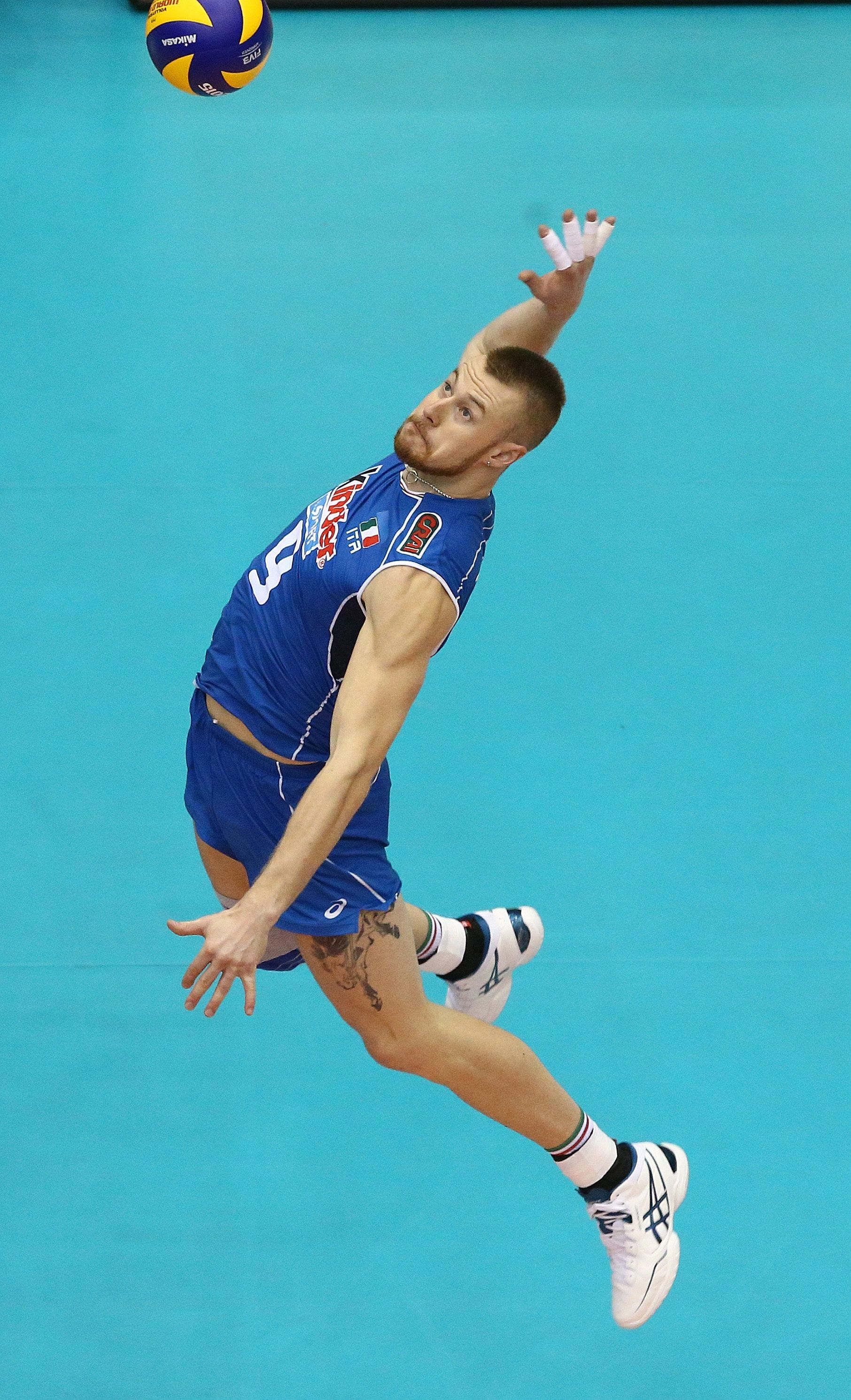 Beautiful Shot Of Ivan Zaytsev Spiking The Ball Mens Volleyball Boxing Workout Sports Balls