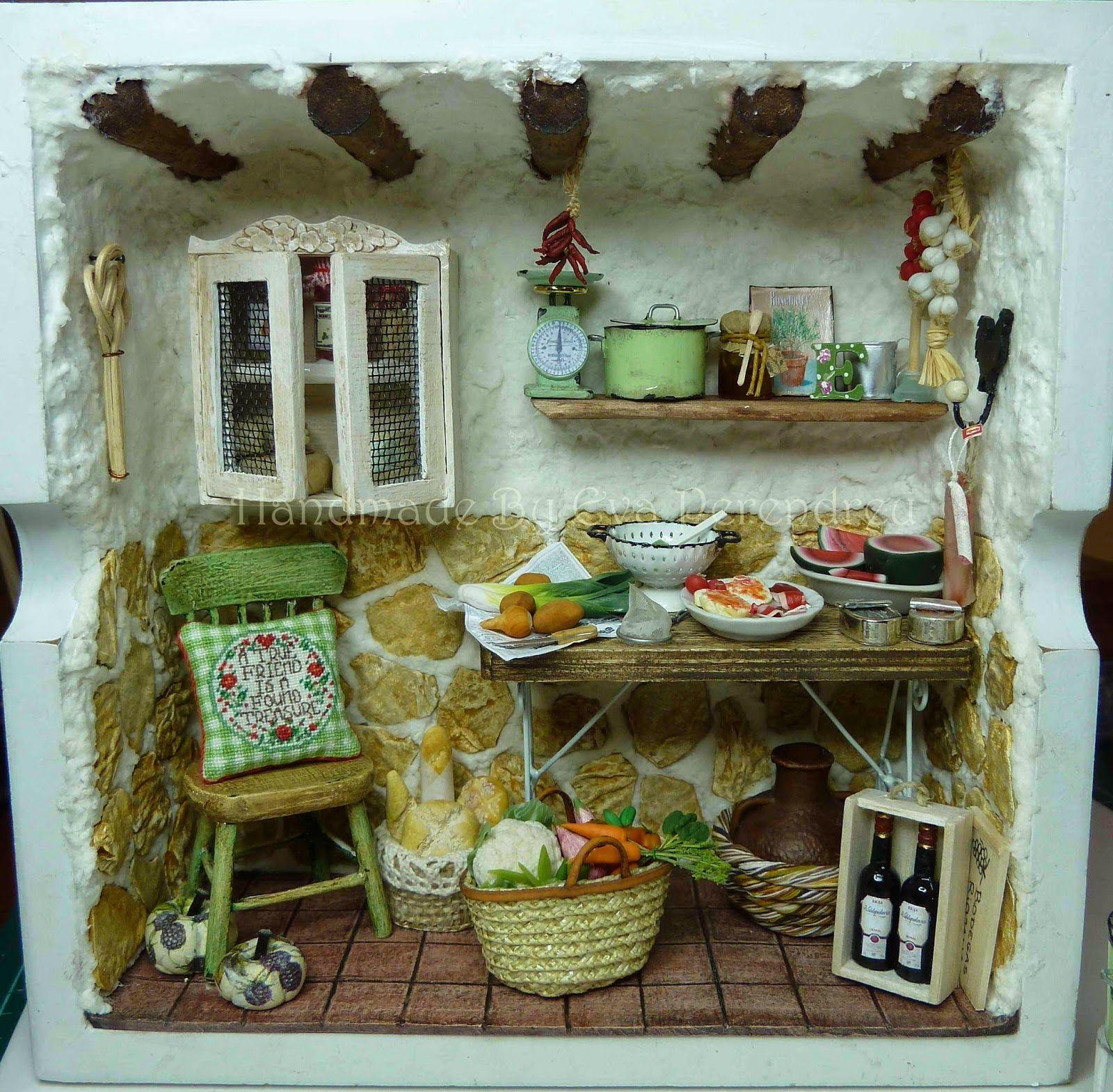 Mini escenas miniaturas by eva perendreu casitas little houses pinterest miniatures pour - Atelier cuisine en creche ...