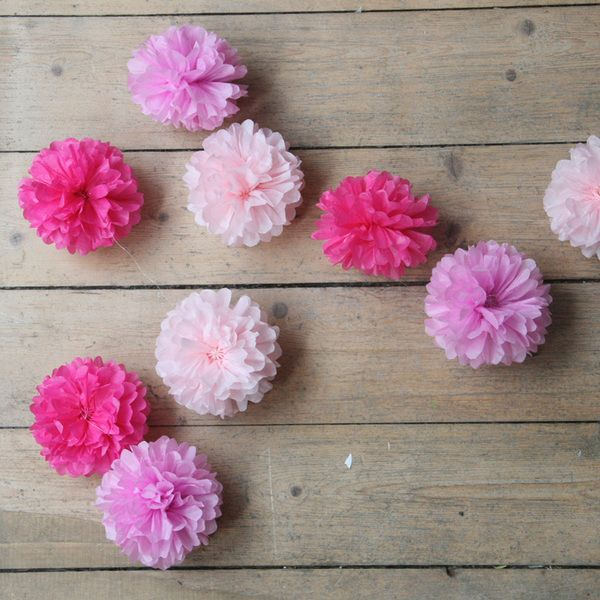 Pom Pom Manufaktur pompom girlande princess pink cadillac princess and wedding