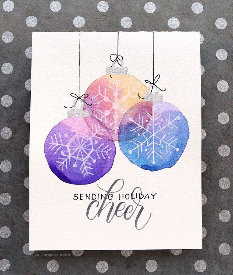 Holiday Card Series 2017 Day 9 Easy Diy Card With Minimal Supplies Christmas Card Art Watercolor Christmas Cards Diy Holiday Cards