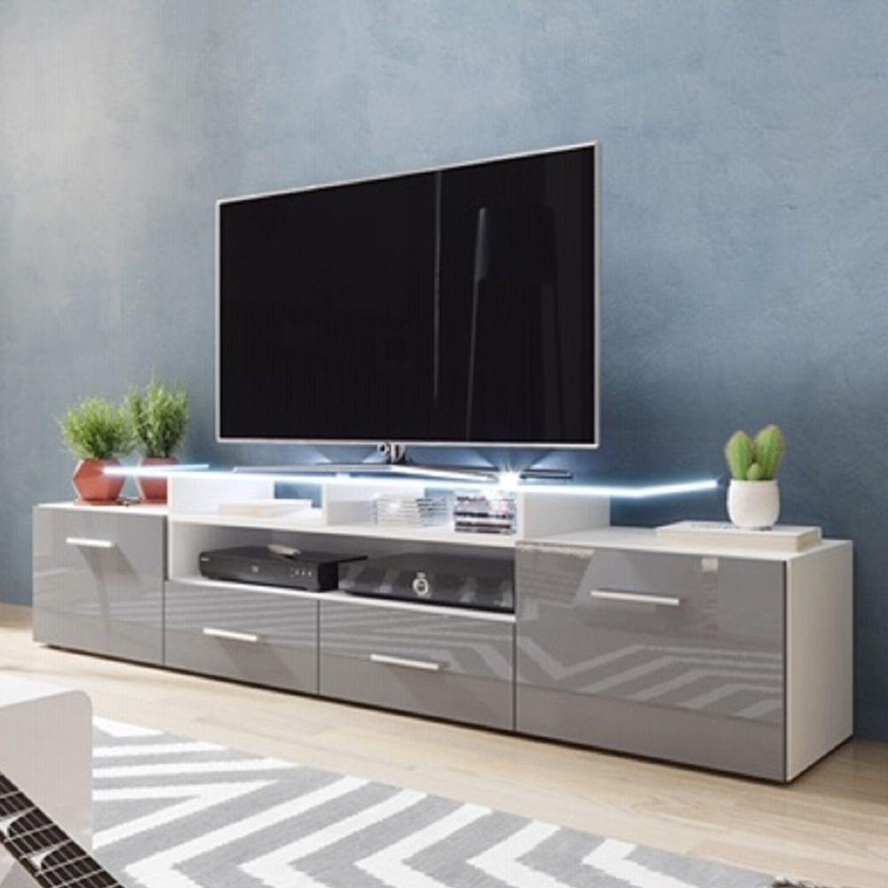 Evora White Gray Tv Stand Evora Meble Furniture Tv Stands White Tv Stands Tv Stand Led Tv Stand