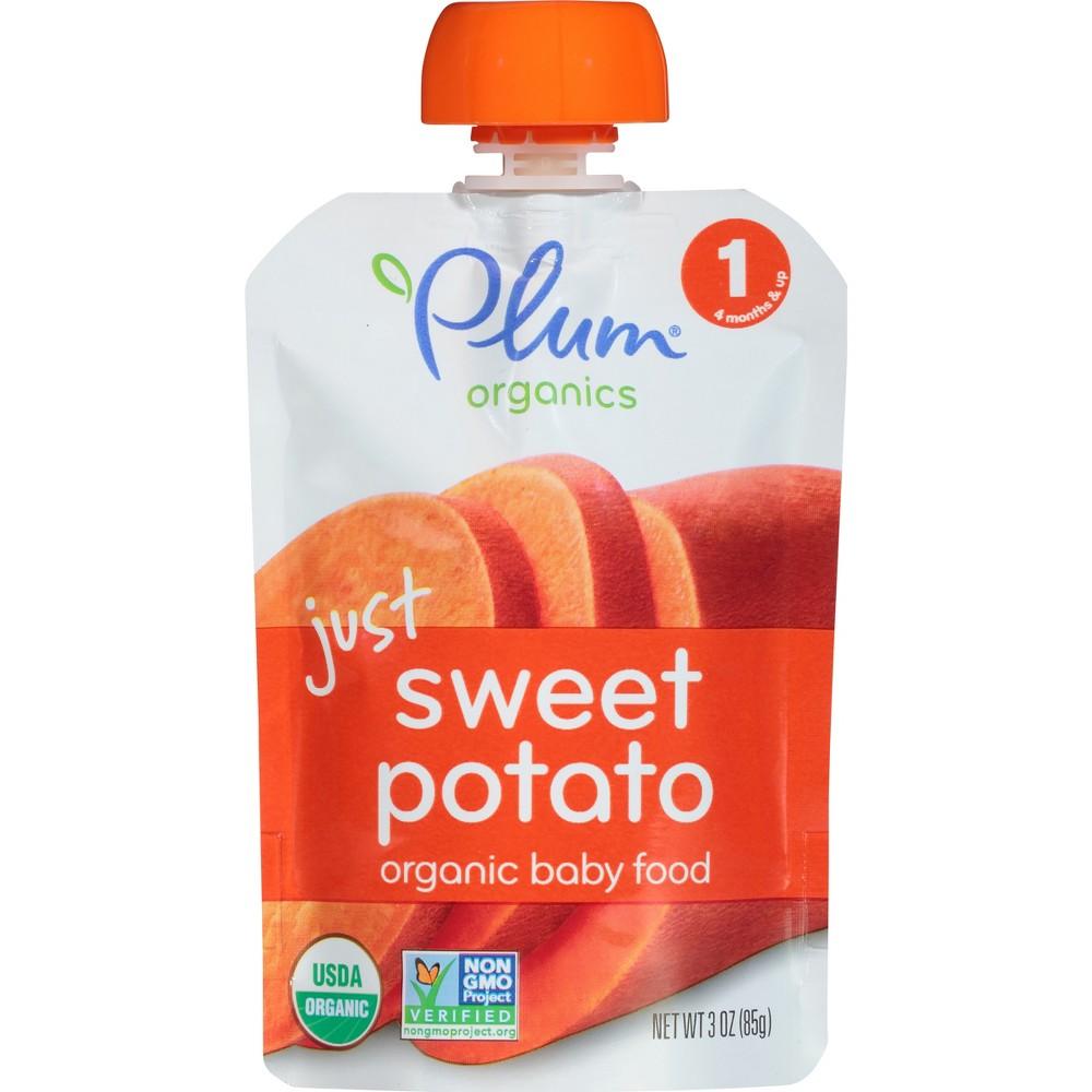 Plum Organics Stage 1 Baby Food Pouch Just Sweet Potato