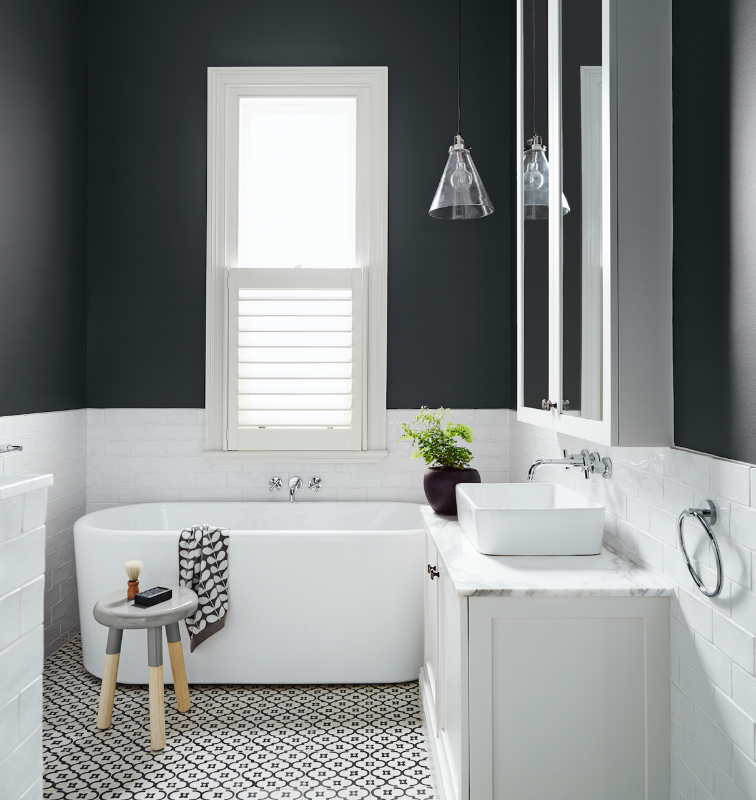 Dark Bathroom Paint Color Ideas Dulux White Bathroom Designs Bathroom Interior Bathroom Design