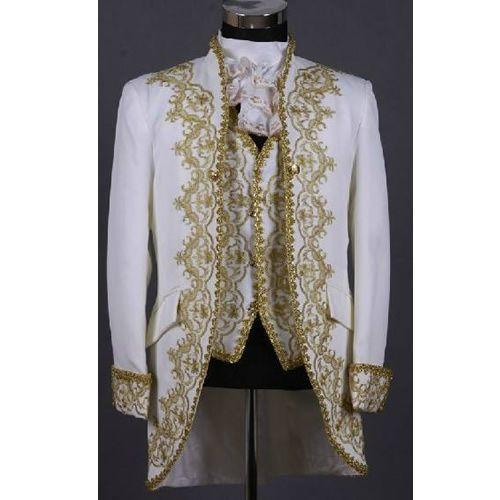 Vintage Ivory White Gold Victorian Edwardian Style Wedding Prom ...