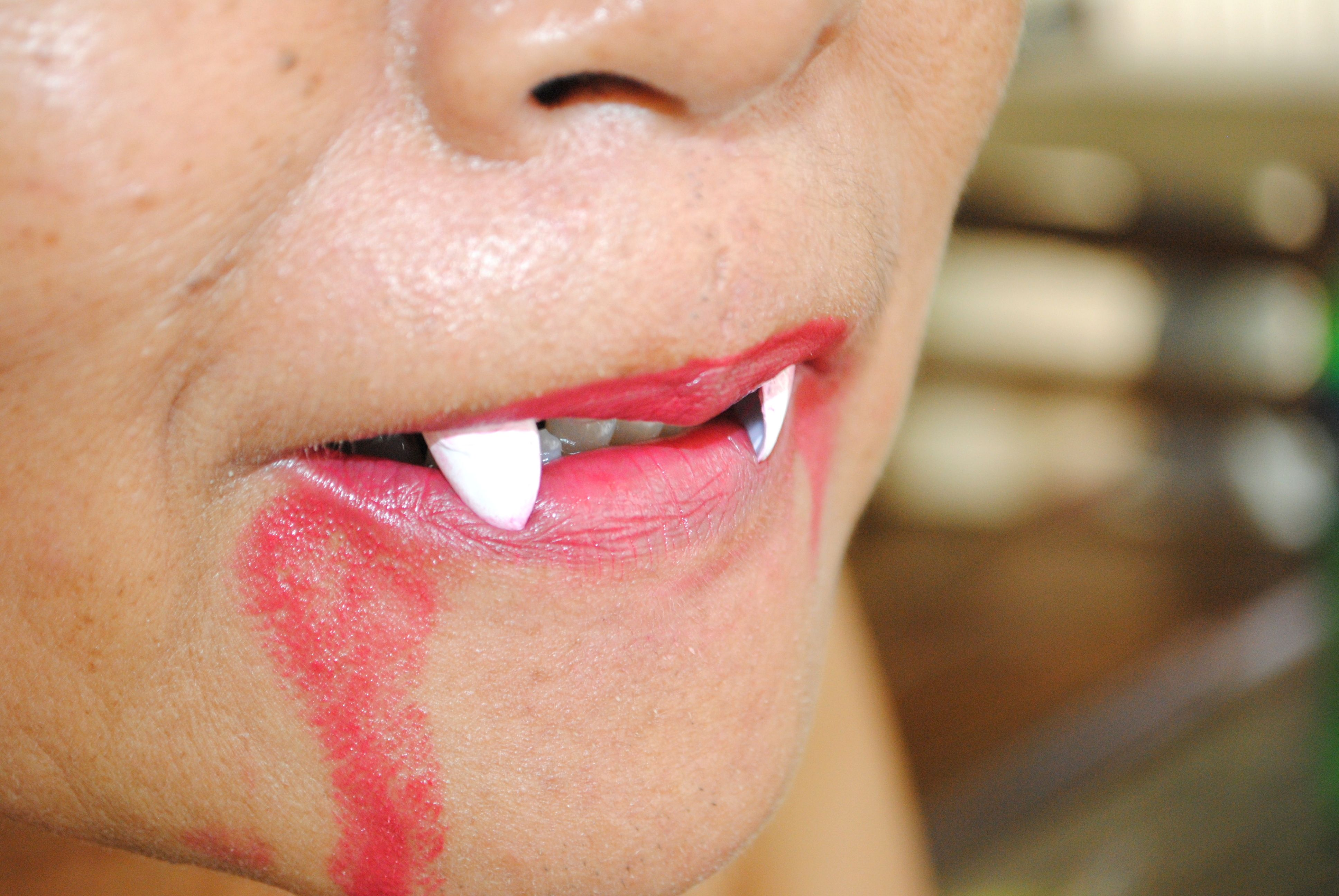 Make Vampire Fangs Using Fake Nails   Vampire fangs and Dollar stores