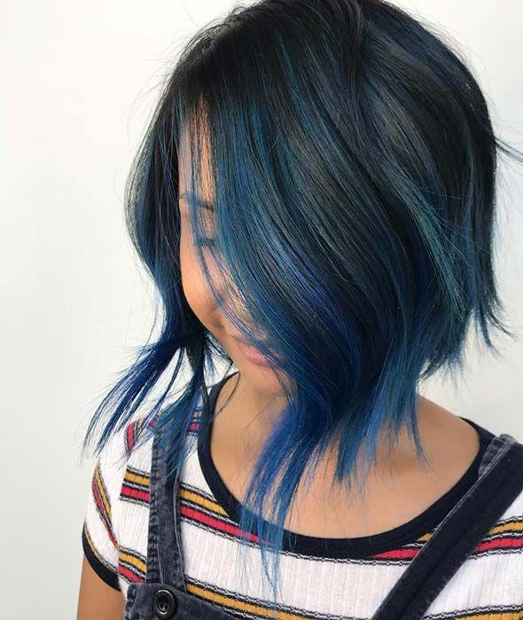 22+Fabulous Blue Black Hair Color Ideas in 2019