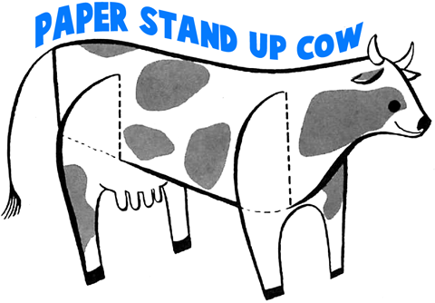 Cow Crafts for Kids: Make cows with arts and crafts projects and ...