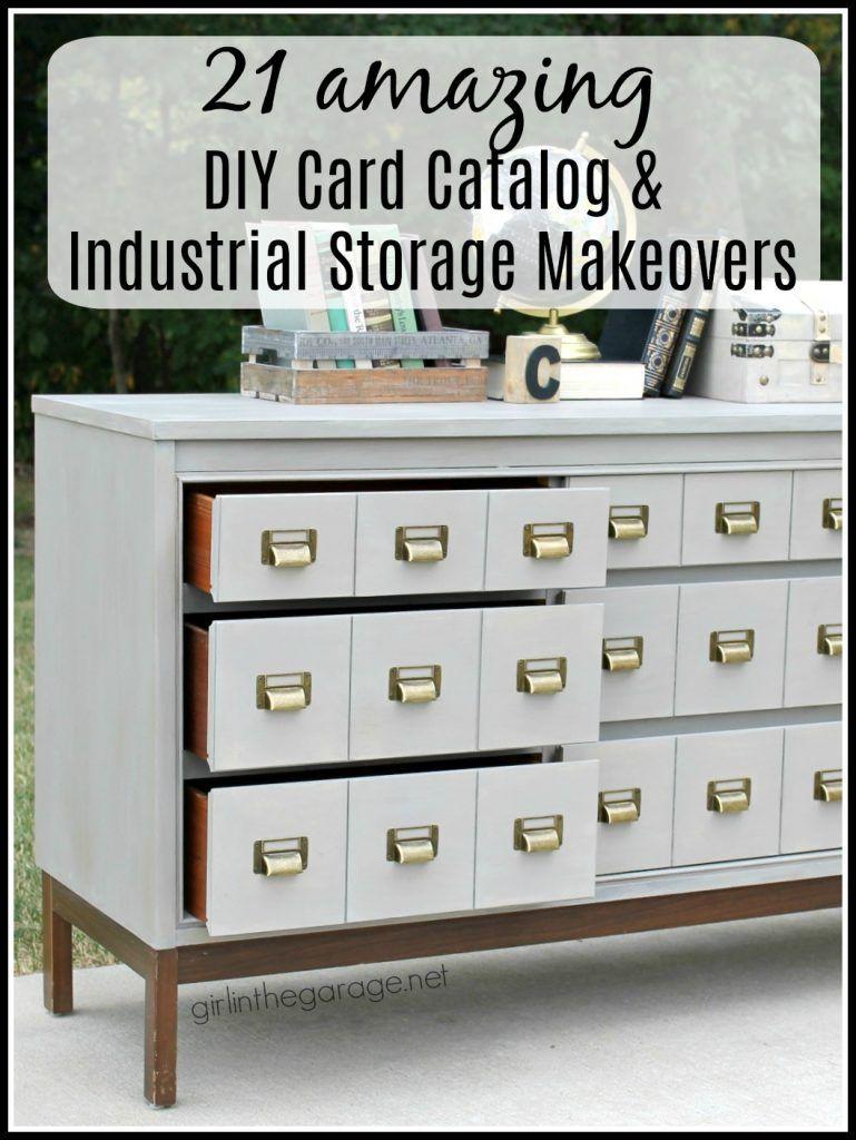 card catalog cabinet diy