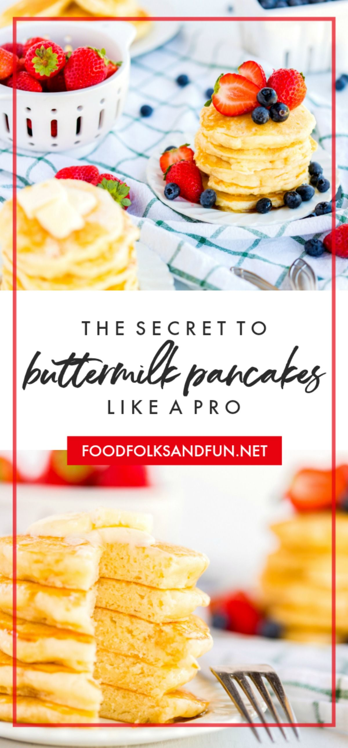 Say Goodbye To Boxed Pancake Mix Because These Fluffy Buttermilk Pancakes Are Buttery And With Images Buttermilk Pancakes Pancakes Mix The Best Buttermilk Pancake Recipe