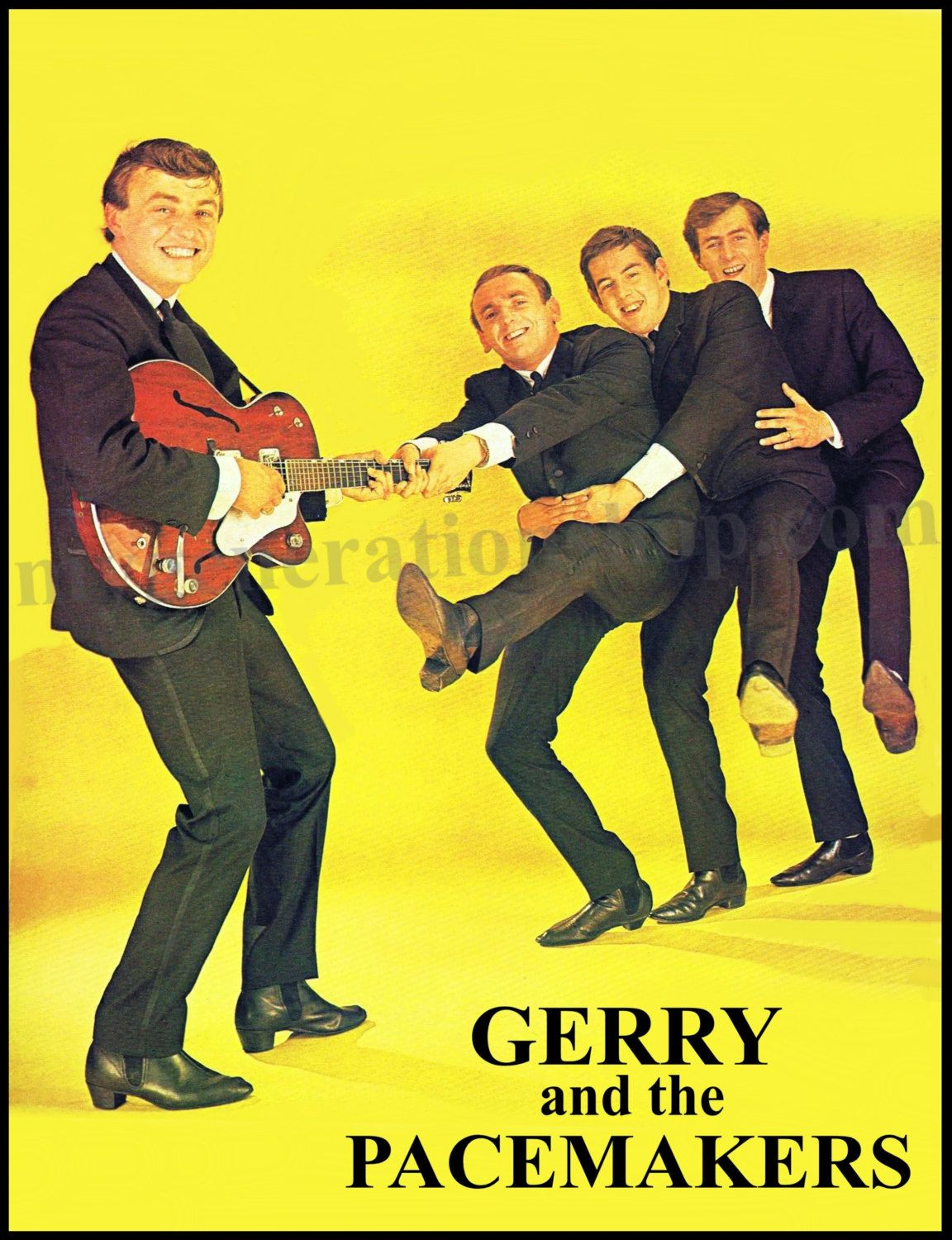 Gerry and the Pacemakers Poster Liverpool 1960's Rock