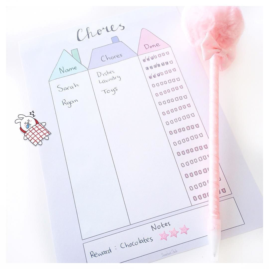 Make any chores fun with this printable chore chart  Shop link in bio  #chorechart