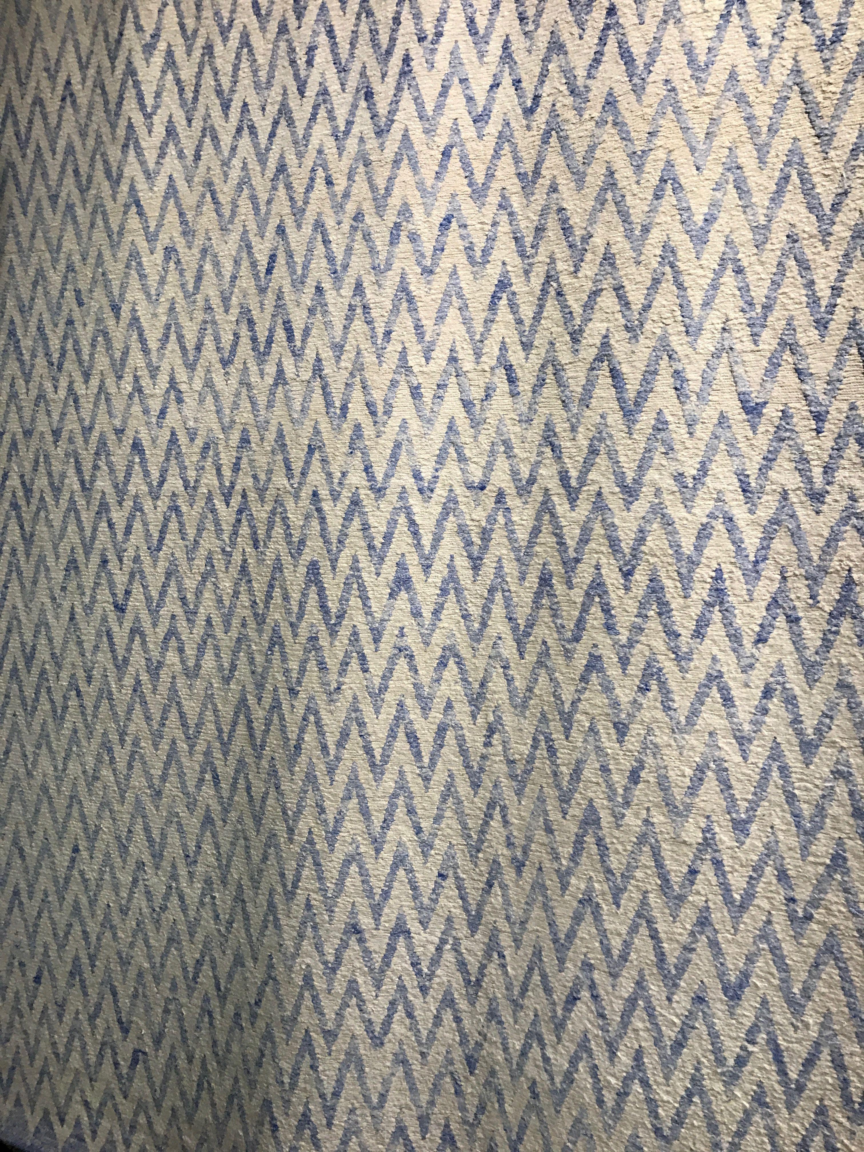 Greenfront rug 6x9 amit indian viscose bluesee 42900